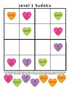 More picture Sudoku-@Nancy Carlson    The Kid Giddy Craft, DIY, Sewing, Recipe, Mom Blog by Kerry Goulder: Giddy-Up Friday: Valentine Sudoku Printables