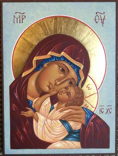 Religious Images, Religious Icons, Religious Art, Mother Mary Images, Images Of Mary, Church Icon, Blessed Mother Mary, Byzantine Icons, Madonna And Child