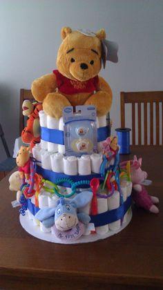 Winne the Pooh diaper cake