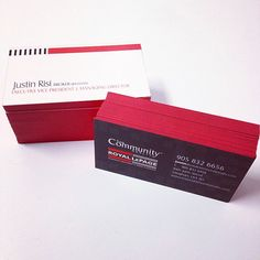 Sweetprint toronto graphicdesigning customdesigning customdesign royallepage realtor 30pt red colour edging and red foil business card for justin risi at reheart Images