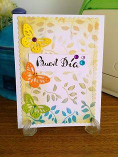 Mi Scrap: buen día card Blog, Card Making, Scrapbook, Good Morning, Activities, Blogging, Scrapbooking, Handmade Cards, Cards To Make