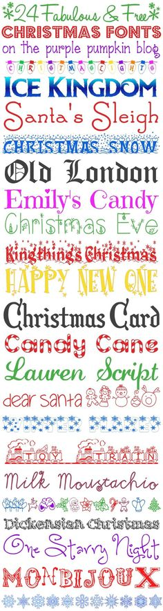 24 Fabulous and FREE Christmas Fonts for all your Christmas and Festive Projects!!