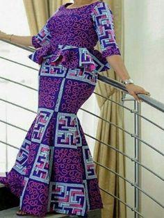 Ericdress African Fashion Falbala Round Neck Plaid Mermaid Dress - Ericdress African Fashion Falbala Round Neck Plaid Mermaid Dress Source by - Latest African Fashion Dresses, African Dresses For Women, African Print Fashion, African Attire, African American Fashion, African Outfits, Latest Ankara Styles, Ankara Dress Styles, Geometric Dress