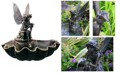 Ambiente fairy on a clam shell water fountain