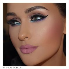 Her sensual, dreamy and passionate eyes is what made her noticeable #talalmorcos #mua #eyeliner #2015 #workshop #dubai #kuwait #october