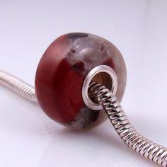 Puddingstone large hole bead charm by rwilberg