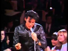 Elvis Presley - Comeback Special - Black Leather Stand-Up Show 1#...(video starts kinda jinky but Elvis brings it home and never looked better than in black leather. I MEAN, NEVER : )