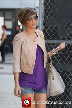 Frankie Sandford, of The Saturdays return to their hotel from... | Frankie Sandford Picture 3284000 | Contactmusic