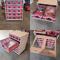 30 Trendy Ideas For Tool Storage In House Shelves Van Storage, Wood Storage Box, Workshop Storage, Ikea Storage, Tool Storage, Garage Storage, Storage Drawers, Storage Ideas, Truck Storage