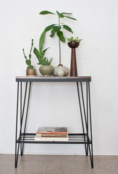 Posts about hairpin legs written by kibster Hairpin Table, Hairpin Legs, Kitchen Trolley, Mid Century House, Hair Pins, Entryway Tables, Living Room, Wood, Interior