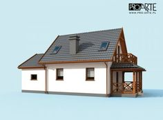 projekt domu letniskowego Cottage Homes, Home Fashion, Gazebo, House Plans, Shed, Outdoor Structures, House Design, Cabin, How To Plan