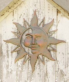 Wind and Weather Sun Face Metal Wall Art | zulily