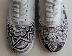 3bab1d9cebd5 Custom Design Henna-Inspired Shoes Doodle Shoes
