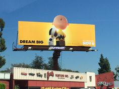SPOTTED: On the beautiful streets of Los Angeles; home of the dreamers :)   #DreamBIg #Snoopy #Outdoor #Peanuts