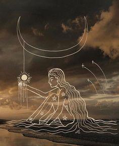 """Slow down, breathe, for now is golden and magic"" ✨ Image via Witch Art, Moon Art, Pretty Art, Aesthetic Art, Online Art, Art Inspo, Amazing Art, Fantasy Art, Design Art"