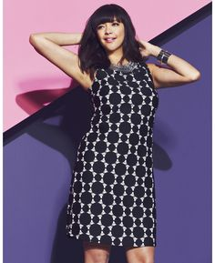 """Retro Cool Shift Dress!  Another great design from """"Simply Be"""" Opt Art Collection"""