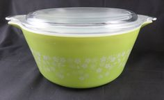 Pyrex Spring Blossom 474 Casserole with Lid  Daisy by CheekyBirdy