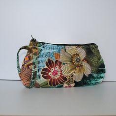 Pleated Wristlet Zipper Pouch // Clutch  Master Floral by lireca, $20.00