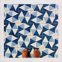 Ancient Greek Sandals and tiles by Gio Ponti at Parco dei Principi, Sorrento