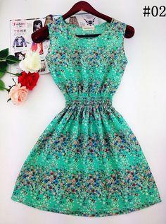 Summer Casual Sleeveless Printed Dress