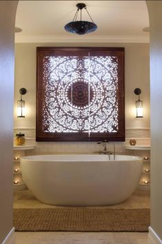 This Elaborately Detailed Wood Window Covering made of ornate carved window can be done also to beautiful effect with stenciling.