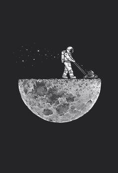 space illustration #moon #astronaut