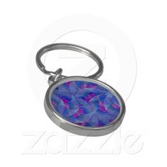 Autumn Leaves Keychain from Zazzle.com    autumn,leaves,turquoise, magenta,artistic, abstract, flower, digital,modern,retailer