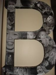 How to Mod Podge Photo Letter Tutorial: myhoneysplace.com...