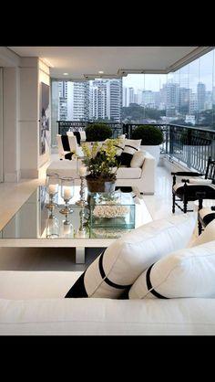 Modern interior design mirrorwall contemporary interior for Living room 640x1136