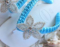 Brazilian FLIP FLOPS for wedding Bridal by AdrianaSantosBridal