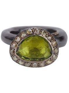 Rosa Maria Chunky Silver And Turmaline Ring