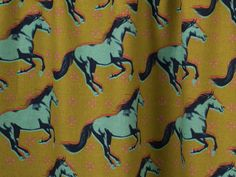 Cotton + Steel Mustang Gallop Canvas Mustard Fabric - None