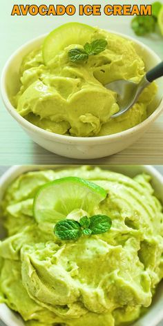 holiday summer This creamy and smooth Avocado Ice Cream is just the dessert to please any diet! Made with only 3 ingredients, it makes a perfect summer treat. Cooktoria for more deliciousness! Avocado Dessert, Avocado Cake, Yummy Food, Tasty, Vegan Ice Cream, Banana Ice Cream, Make Ice Cream, Homemade Ice, Frozen Desserts