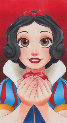 Manga Style Disney Princess by Chihiro Howe Snow White