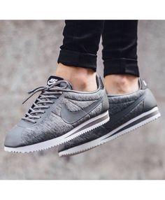 a0c82e6791014a Nike Cortez Classic Tech Fleece Wolf Grey Trainers Outlet UK Nike Cortez  Grise