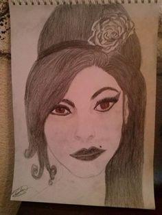 Amy Winehouse  Dibujo a lápiz por  Pilar Regidor!