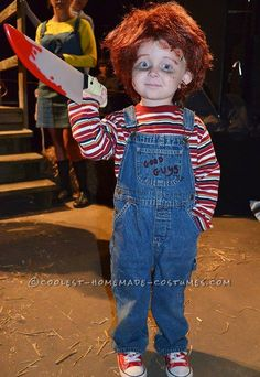 contest winning little chucky costume for a toddler