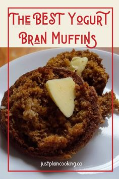Recipes Breakfast Yogurt Janet's Yogurt Bran Muffins are light, moist, full of flavor, and quick to make. Healthy and delicious, they will be a new favourite. Banana Bran Muffins, Raisin Muffins, Chocolate Chip Muffins, Banana Bread, Healthy Muffin Recipes, Healthy Muffins, Brownie Recipes, Cupcake Recipes, Easy Desserts