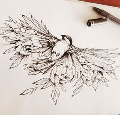 Feather With Birds Tattoo, Feather Tattoos, Body Art Tattoos, New Tattoos, Sleeve Tattoos, Cool Tattoos, Tattoo Bird, Tiny Tattoo, Mandala Tattoo