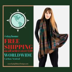 How are you all doing out there ? Keeping happy and healthy I hope ? ! Here at #LoullyMakes HQ , we have been crunching the numbers and are excited to share that we are now able to offer FREE #worldwideshipping on all orders totalling over £50 ! ...thats just a couple of gorgeous, handmade, Scottish accessories in your basket...go take a look 👀 ! More original designs will be added soon too 🏴  #stayhome #shopping #carbonneutral #LoullyMakes2020 #GNKfamily