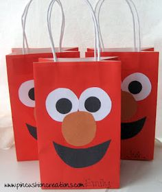 Pincushion Creations: Elmo Party Goodie Bags ASHER