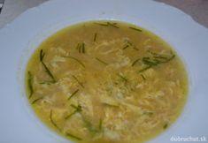 Fotorecept: Rascová polievka s vajíčkom