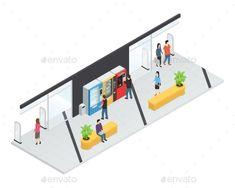 Vending  Machines Isometric Concept - Miscellaneous Vectors Download here : https://graphicriver.net/item/vending-machines-isometric-concept/19627655?s_rank=165&ref=Al-fatih