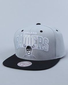 Mitchell & Ness | Oakland Raiders Nfl Reverse Color Arch With Logo Snapback Cap. Get it at DrJays.com