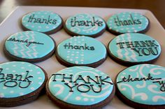 Thank You cookies [posting photo for inspiration only]  #DecoratedCookies #Cookies