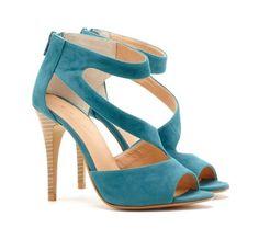 Tiffany Blue High Heels *love* #shoes #heels #women #ladies #fashion