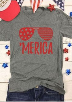 'Merica Glasses T-Shirt