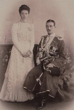 Grand Duchess Olga Alexandrovna with her brother michael. The two youngest children of alexander lll were very close as children , but later became somewhat estranged due to what Olga considered the unsuitability of his marriage to a divorced commoner.
