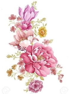 pink- flowers- watercolor