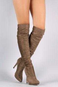 Liliana Slouchy Knee High Platform Stiletto Boots